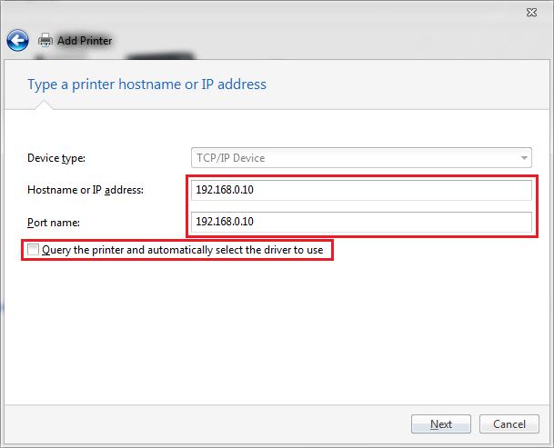 IP-adresse og portnavn